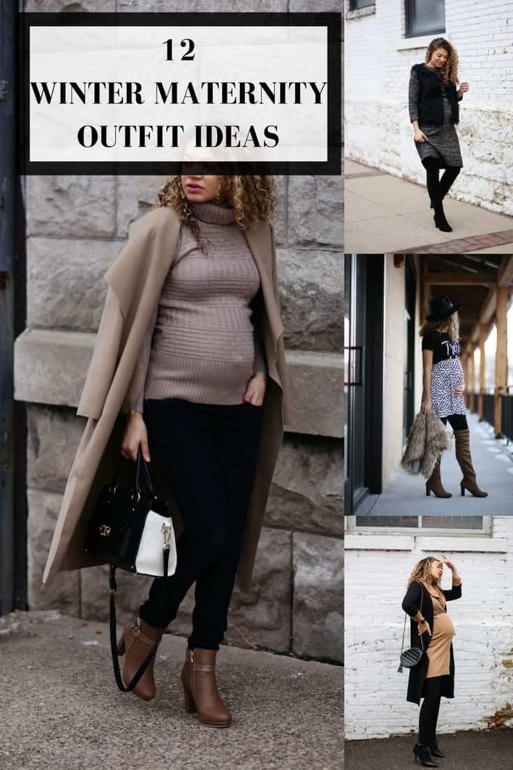winter maternity outfit ideas