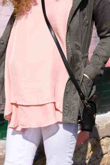 blush pink and olive green color combo for spring