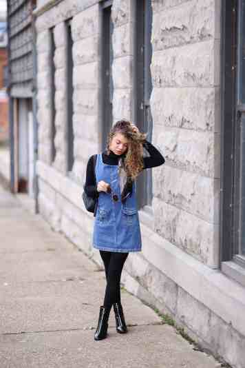 denim dress outfit