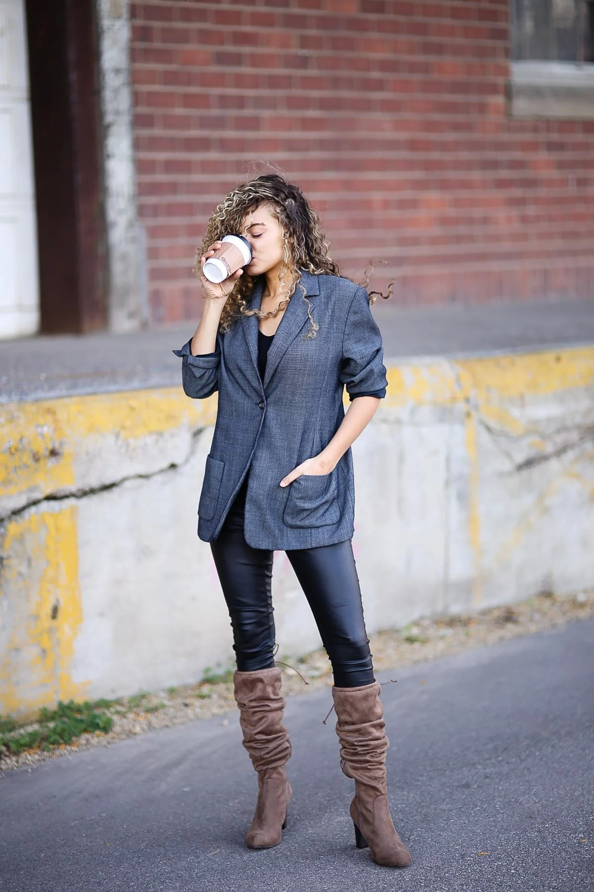 slouchy boots fall outfit