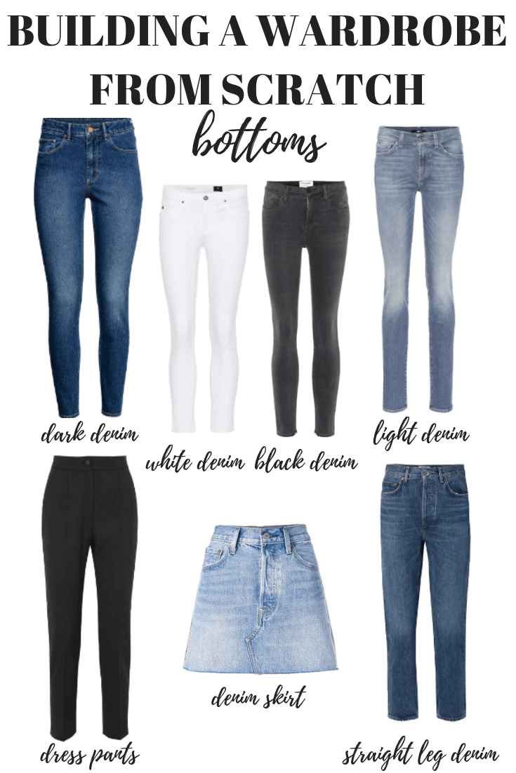 Here's how to build a wardrobe from scratch starting with your bottoms. Your capsule minimalist wardrobe is just one step away!