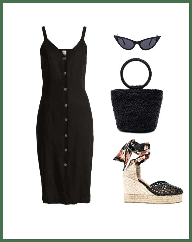 linen dress classic summer outfit idea