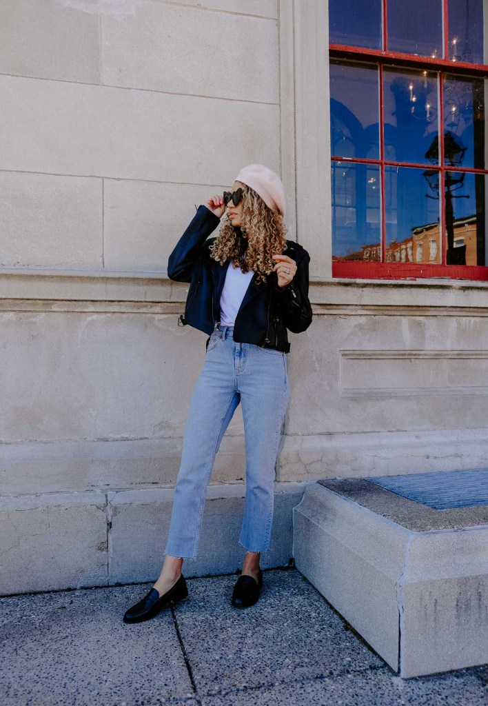 parisian chic suspenders outfit