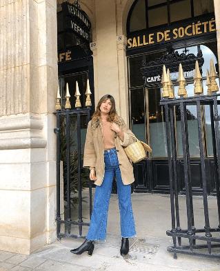 camel blazer french girl