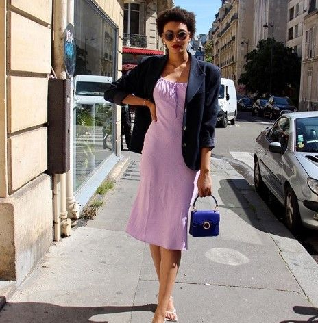 slip dress french girl outfit