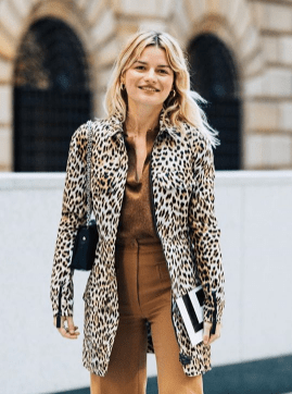 leopard print french girl outfit