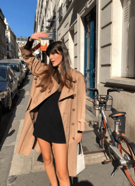 oversized trench coat french girl