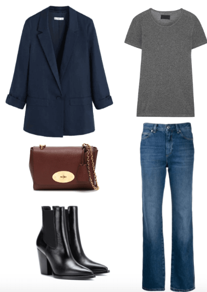 parisian style fall outfit combo