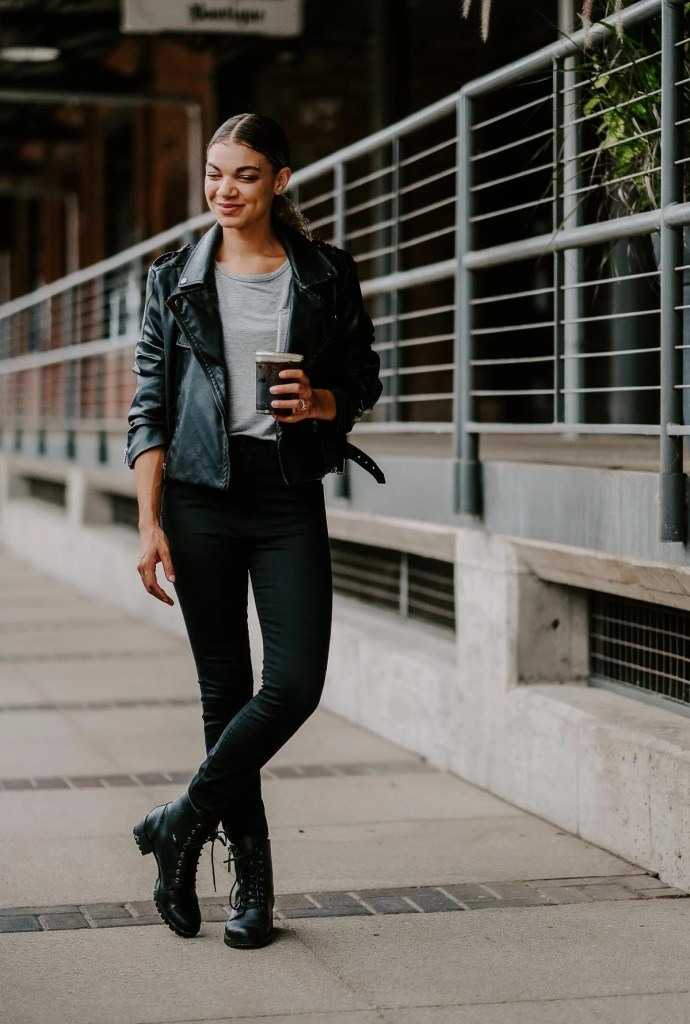 streetstyle model off duty outfit