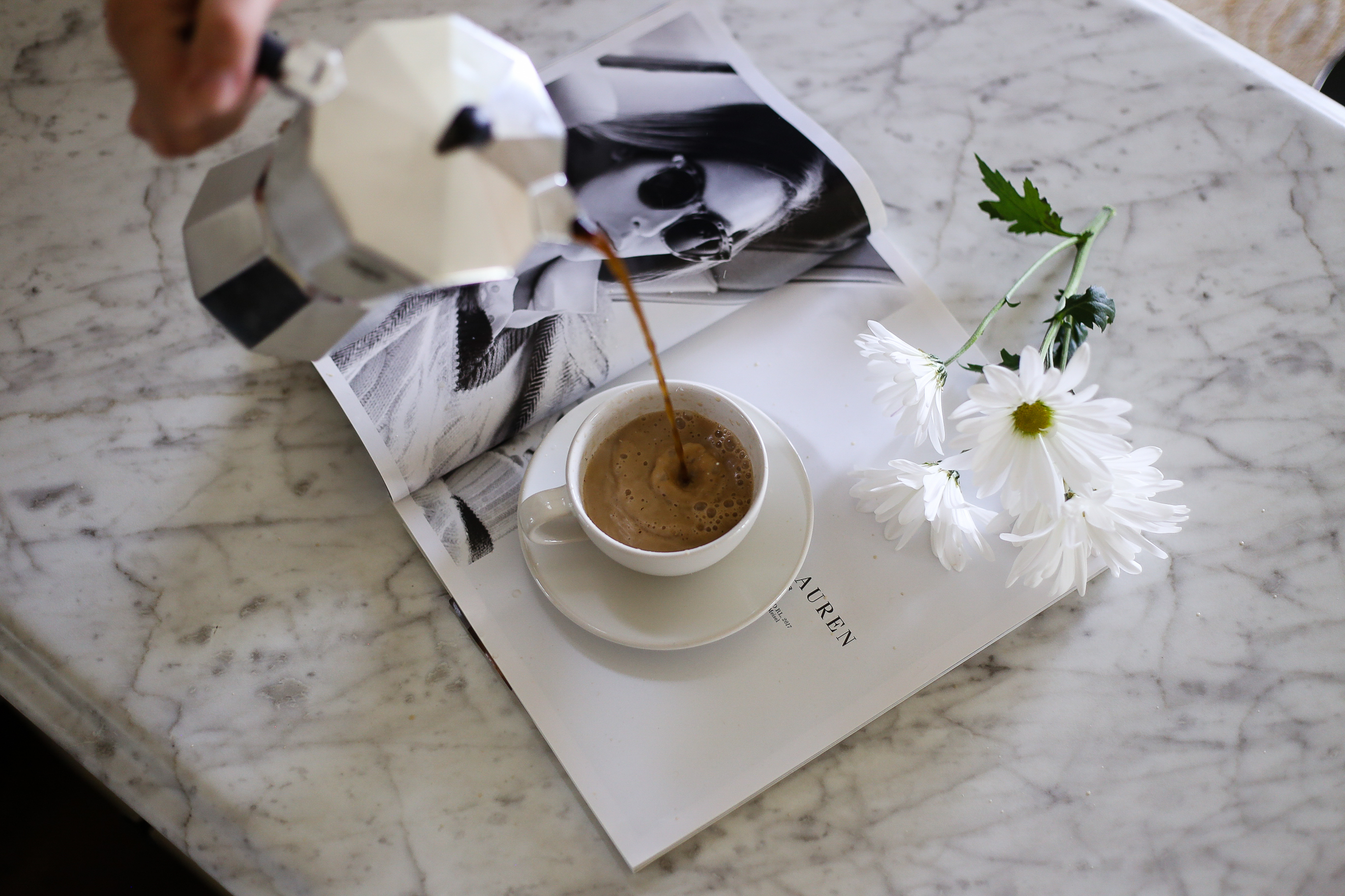 espresso flatlay
