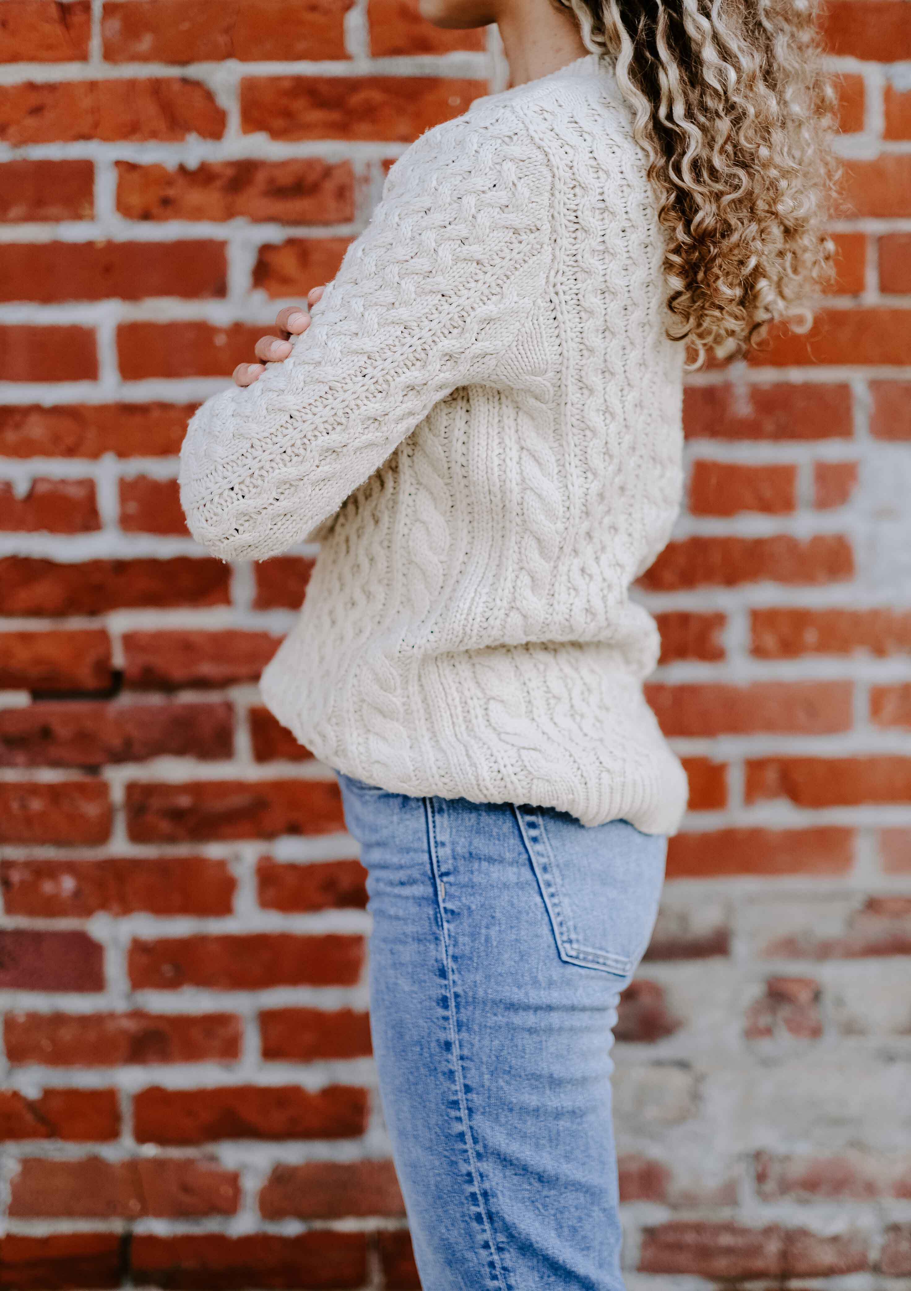 wool sweater outfit