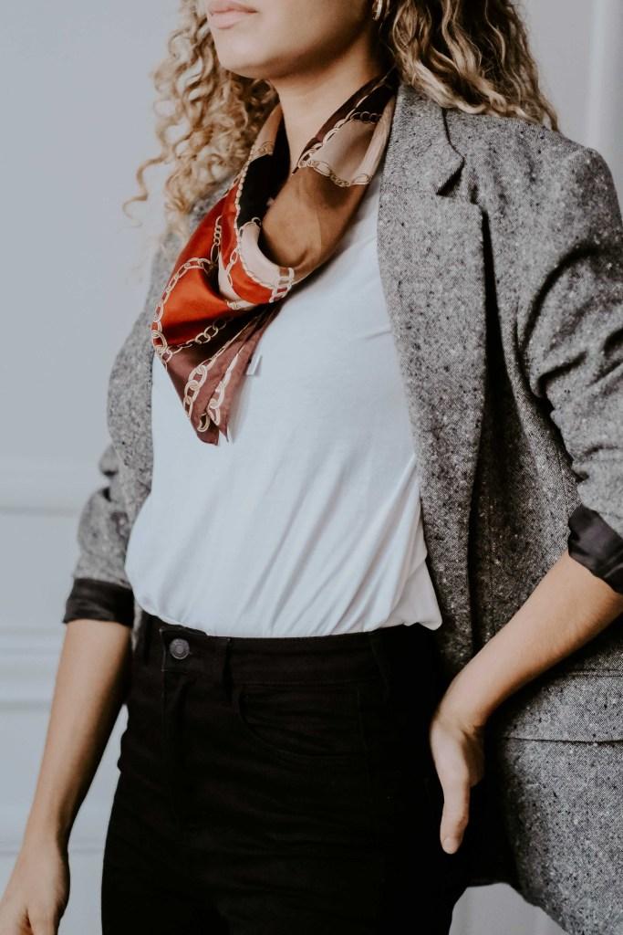 stylish Parisian chic outfit