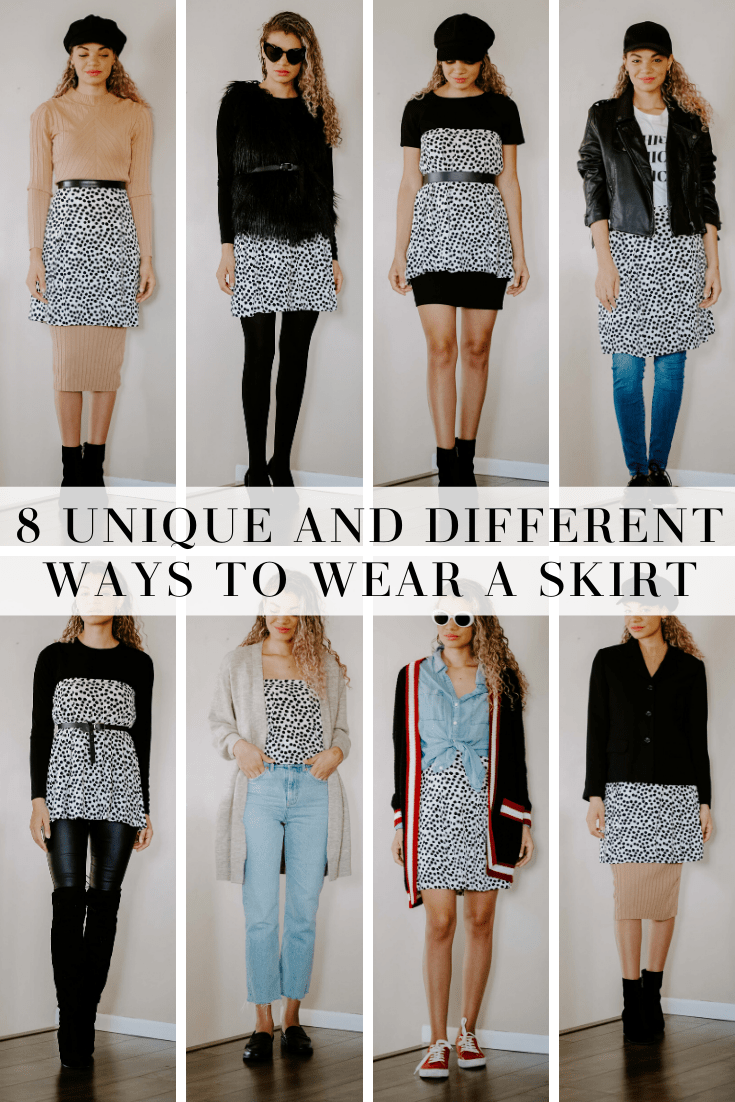 different ways to wear a skirt
