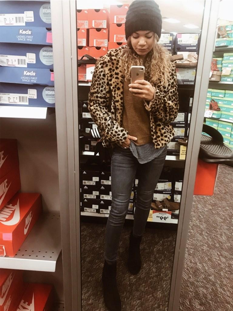 cheetah coat outfit