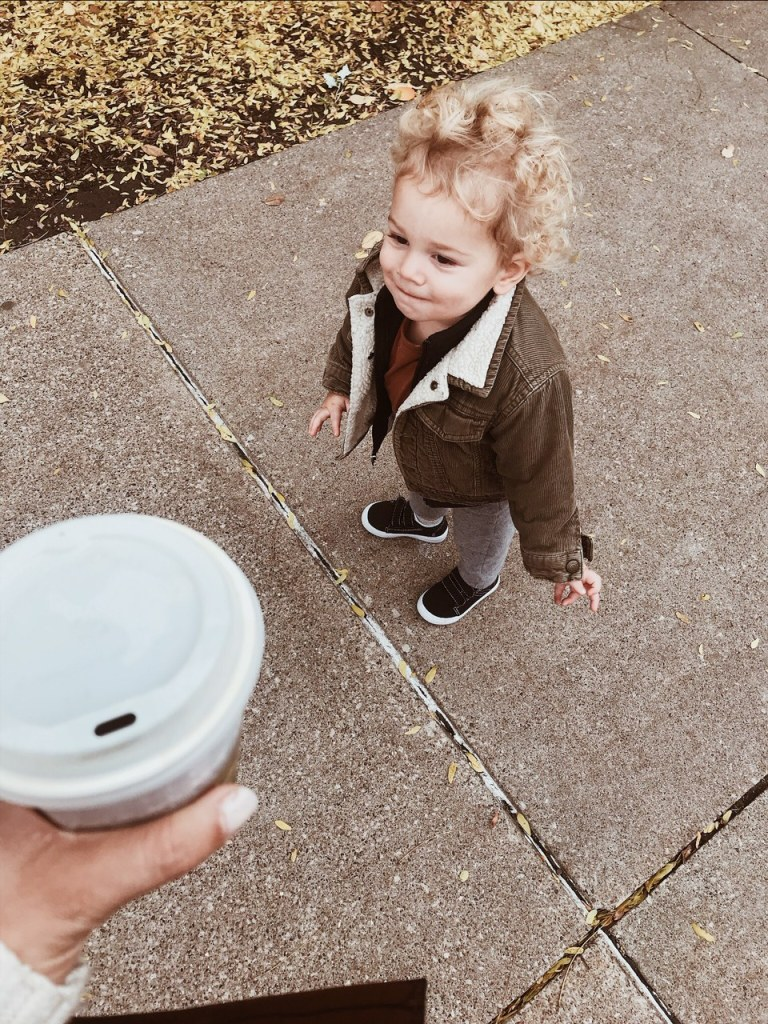 toddler and coffee