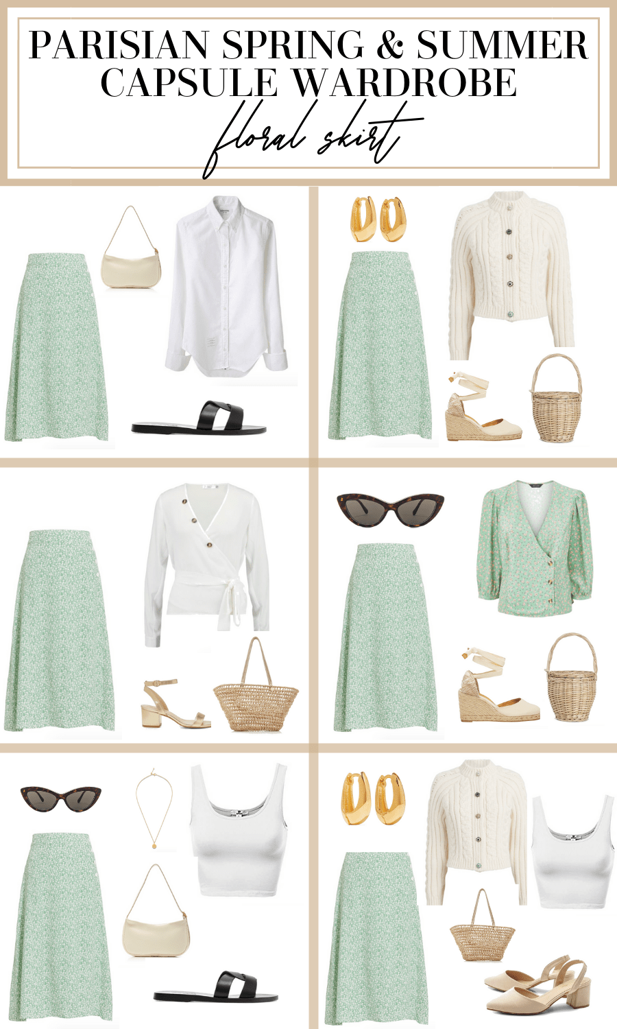 french summer capsule wardrobe