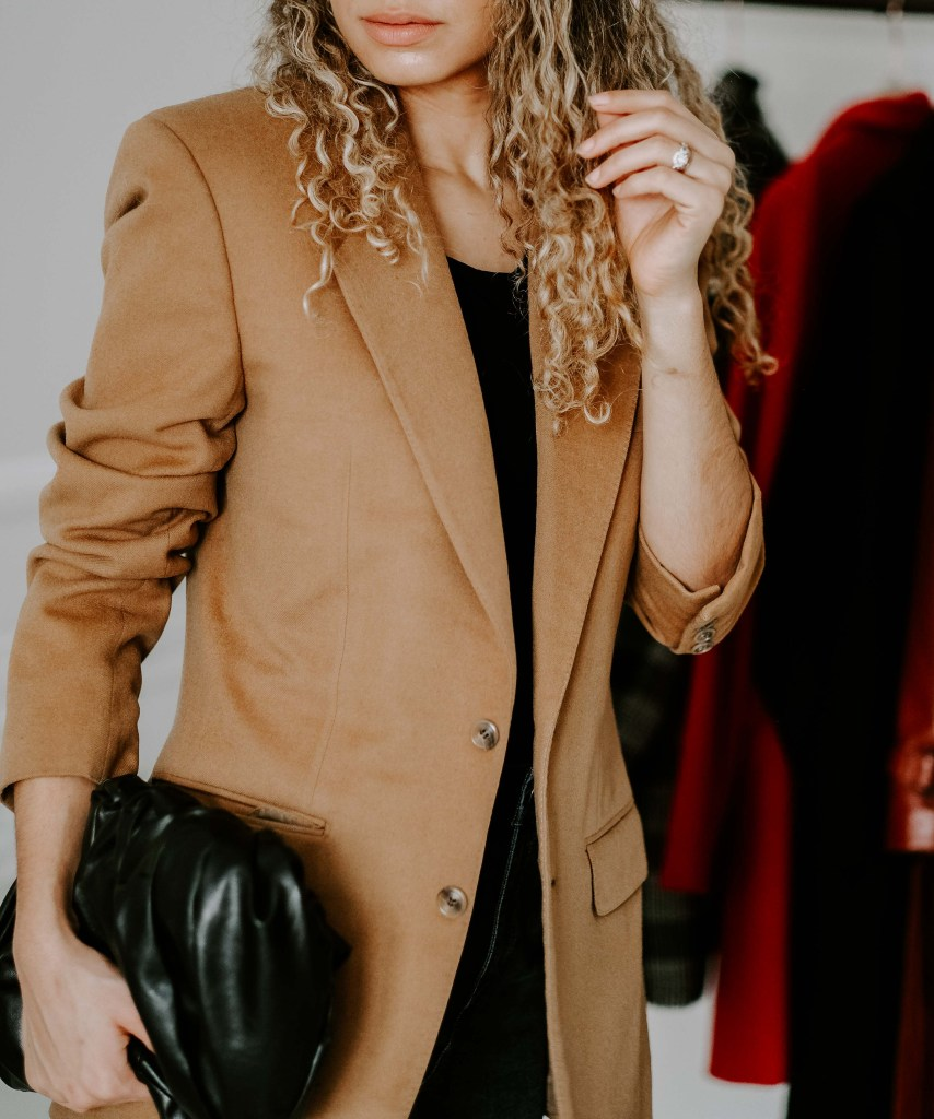 camel blazer french fashion
