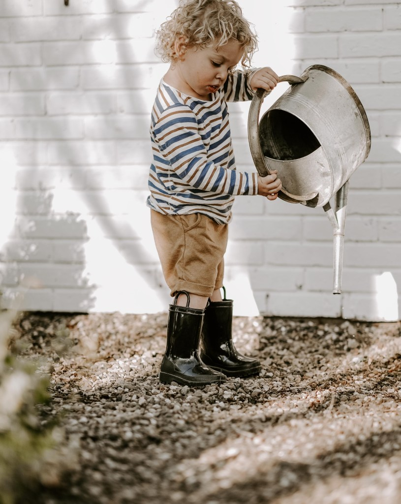 toddler boy outside