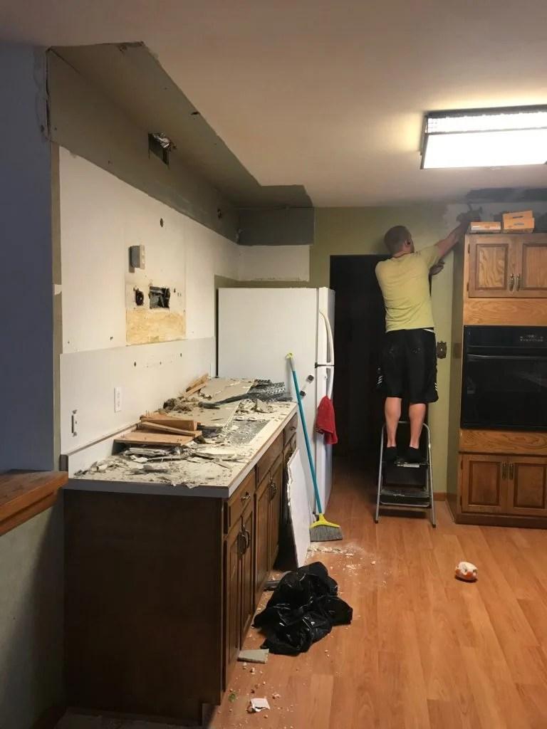 removing kitchen soffits/bulkheads