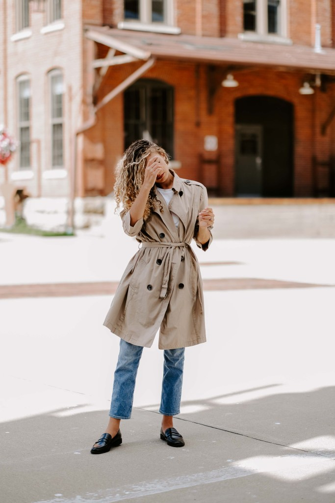 trench coat classic outfit