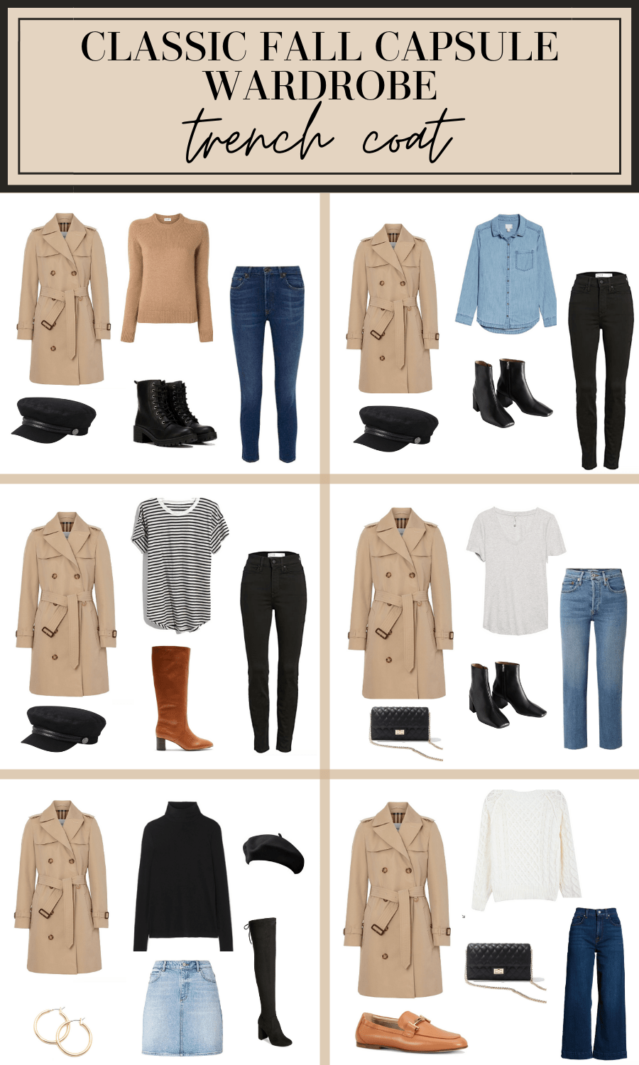 trench coat for fall outfit ideas