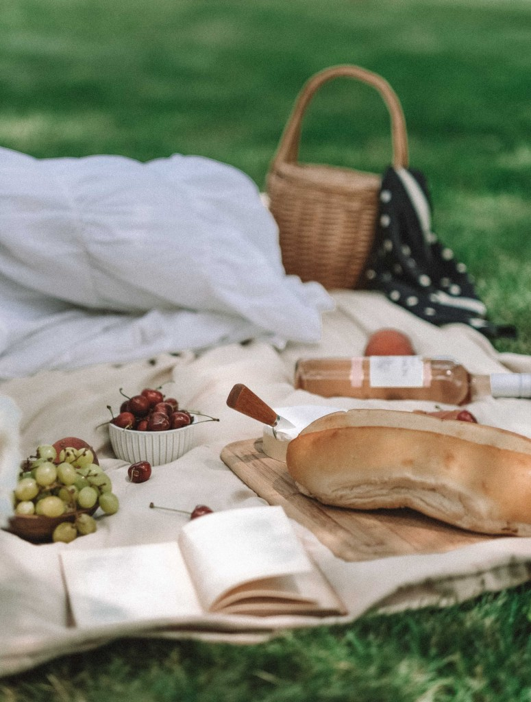 outdoor summer styled picnic