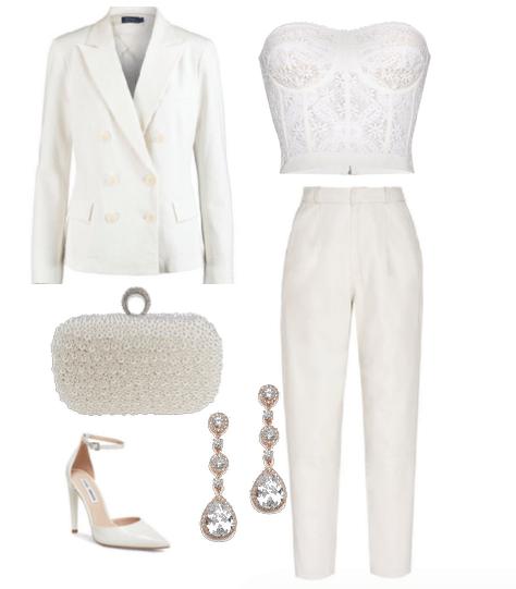 white suit as bride