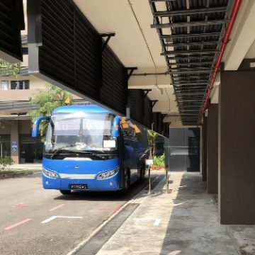 Shuttle bus from My Childhood Place Student Care Center to MRT station