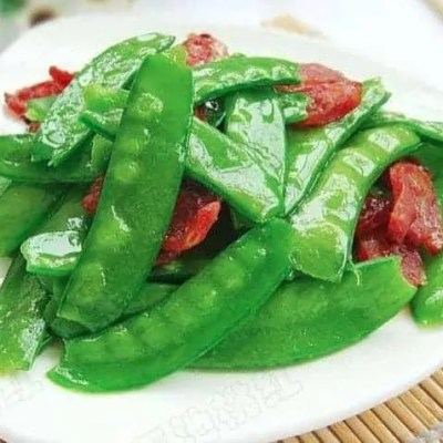 Fried Sausage With Snow Pea Recipe