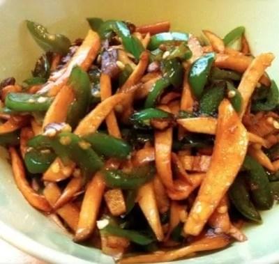 Stir fried Green Pepper and Abalone Mushrooms Recipe