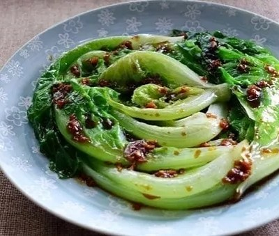Chinese Lettuce With Garlic Oil Recipe