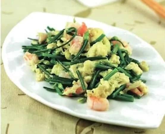 Receta China De Camarones Salteados Con Cebollino Mis