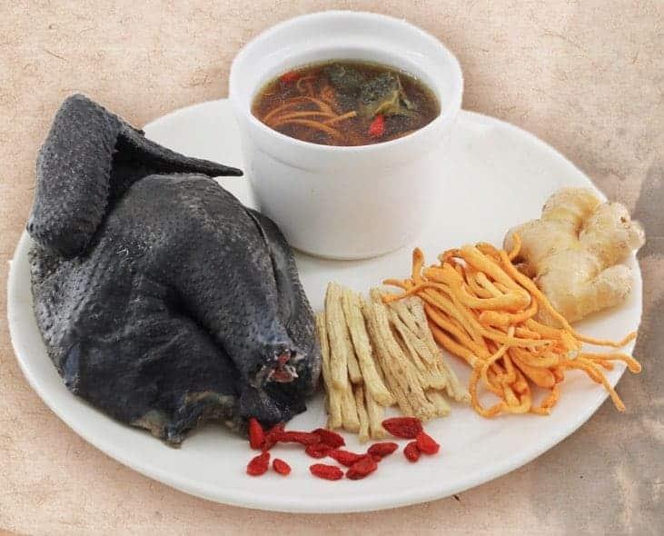 Chinese Medicative Black Chicken Soup Recipe