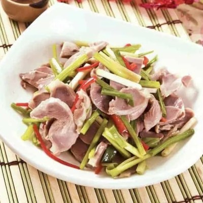 Chicken Gizzards With Spring Onions Cold Dish Recipe