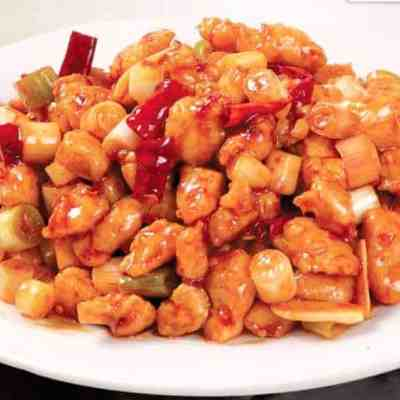 Kung Pao Chicken With Mushroom and Winter Bamboo