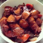 Braised Abalone And Pork Belly in Brown Sauce