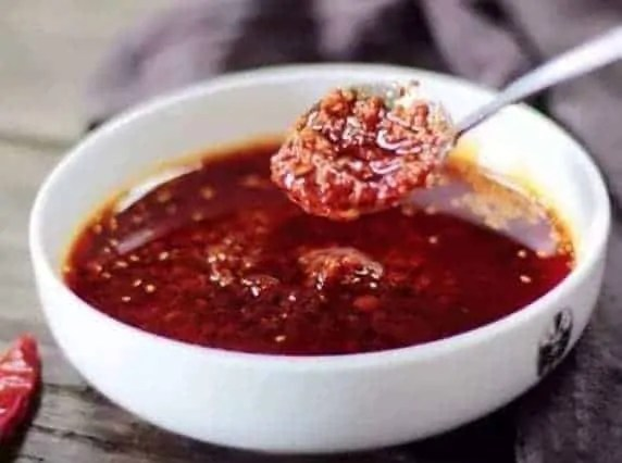 Chinese Sesame Paste Dipping Sauce with chili oil