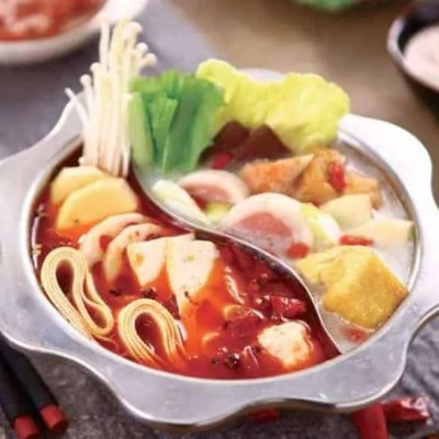 Chinese Two Tastes Hot Pot Base