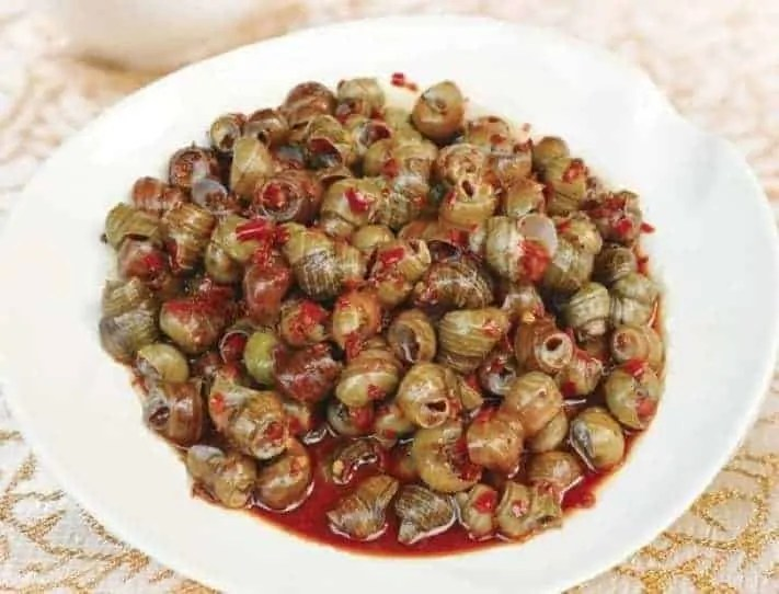 Chinese Stir-fried River Snails Recipe