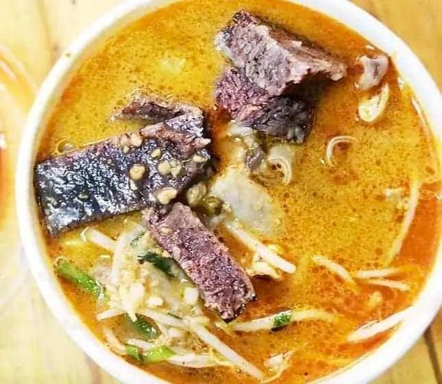 Pork Liver with Satay Sauce Flavour Noodle Recipe