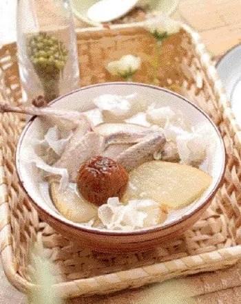 Snow Pear Quail Soup Recipe