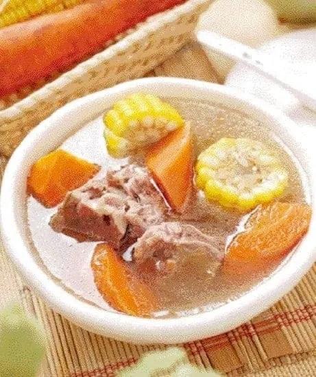 Corn and Carrot Pork Bones Soup Recipe