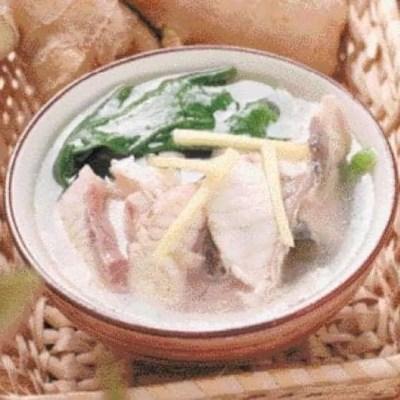 Malabar Spinach Grass Carp Fish Fillet Soup Recipe