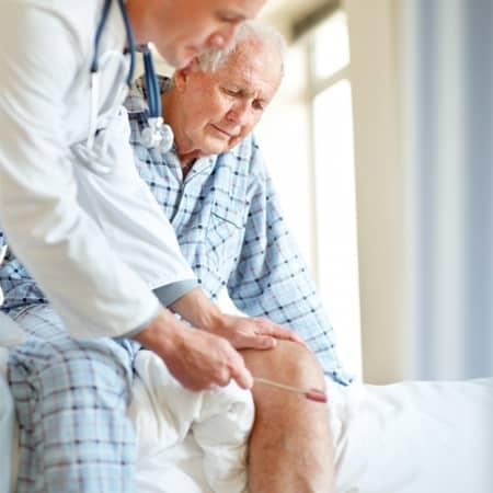 chiropractic assessment of an elderly man