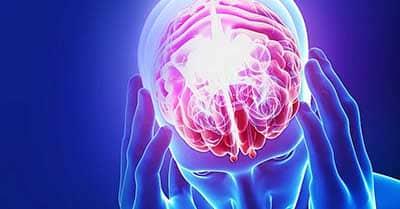 man holding head with headache & Tinnitus