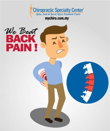 illustration of a man with back pain