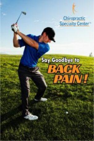 golfer shown playing golf