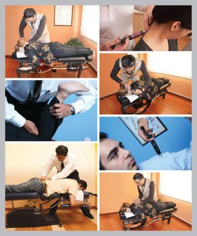 Chiropractic treatment shown