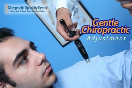 Gentle chiropractic adjustment