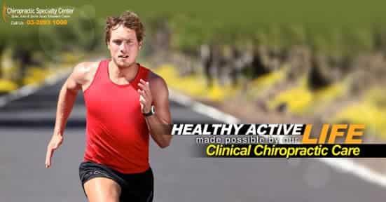 healthy man shown running